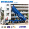 Three Axle Hydraulic Cylinder Dump Truck/ Rear Tipping Trailer