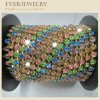 Colorful Crystal Rhinestone Cup Chain in Roll for Dress, Shoes