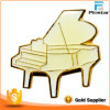 White Piano Klavier in Weiß Musik Pianist Metall Badge Pin