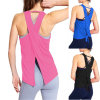 Logo Printed 100% Cotton Women Gym Vest