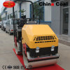 1000kg Hydraulic Drive Double Drum Earth Compactor Machine