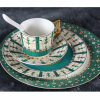 Green Malasia Disposable 5 Pieces Dinnerware Set