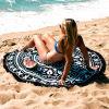 Round Cotton Velvet Beach Towel