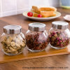 3PCS 100ml-500ml Clear Glass Spice Jars