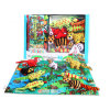 Kids Baby Soft Activity Unfolding Cloth Animal Tails Books Infant Early Educational Toys for Children 0-12 Month Gift