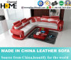 New Arrival Home Living Room Red Leather Sofa Set (HC1000)