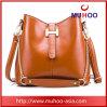 Fashion Bucket Shaped Shoulder Bag Leather Handbag