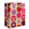 Glitter Valentines Day Gift Bags with Hanging Tag and Organza Handle