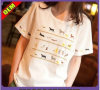 Fashion Sexy Cotton/Polyester Printed T-Shirt for Women (W301)