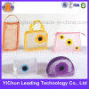 Cosmetic Zipper Bag Windowed Customized PVC Stand Pouch with Handle