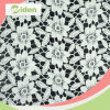 Milky Polyester Grid Pattern Floral Design Chemical Lace Fabric