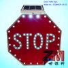 High Brightness Solar LED Flashing Road Sign