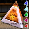 Charminer 7 LED Pyramid Change Colour Digital Clock with Date Alarm Temperature Alarm Clock ABS Electronic Component