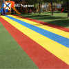 Colorful Rainbow Synthetic Turf for Kindergarten Playground