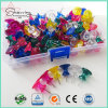 26mm Transparent Colors Plastic I Shaped Bulk Thumb Tacks for Binding
