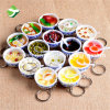Wholesale Simulation Food Blue and White Porcelain Bowl Key Ring
