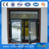 Double Pane Outside Opening Aluminum Casement Window with Double Glazed Glass