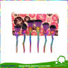 High Quality 6PCS Nylon Hair Green Handle Rose Flower Makeup Brushes
