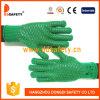 Ddsafety 2017 Heavy Weight Green Gloves with Black PVC Comb Pattern