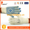 Natural Cotton Knit with PVC Dots with Logo Car Repair Gloves