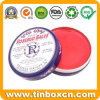 Round Metal Small Cosmetic Tin for Lip Balm