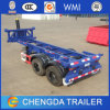 2axle 20feet Skeleton Container Tipper Chassis Trailer for Sale