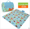 Wholesale Cartoon Printed Microfiber Picnic Blanket