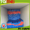 Orange/Blue/Brown 240GSM PE Tarpaulin Rolls