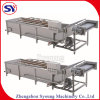 Potato Processing Machinery SUS304 Commercial Ozone Air Bubble Washing Machine