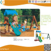 Children Outdoor Plastic Playground Playhouse, Swing Set and Slide