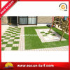 Interlocking Artificial Grass Tile for Decorative Garden