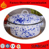 Sunboat Enamel Stock Pot Chinese Pattern Customized Cookware