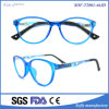 Fashion Design Blue Optical Frame Eyeglasses with Colorful Temple for Kids