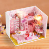 Wooden Pink Doll House Toy for Kids