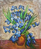Vincent Van Gogh Reproduction Hand Painted Oil on Canvas Irises in Vase (LH398000)