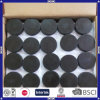 Customized Logo Black Color Rubber Hockey Puck