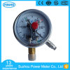 100mm Liquid Filled Vacuum Chrome Plate Electric Contact Pressure Gauge