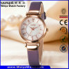 ODM Fashion Casual Leather Strap Gift Ladies Wrist Watch (Wy-093D)