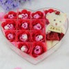 Custom High Quality Transparent Heart-Shaped Acrylic Rose Box