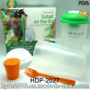 High Quality Salad Shaker Cup with Dressing Container (HDP-2027)