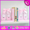 2015 Brand New Wood Shoes Bookend, Wooden Sujetalibros, Cute Wooden Shoes Bookend, Wooden Shoes Bookend for Students W08d058