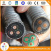 4AWG Tinned Copper /Epr / Lead /Interlocked Armor Esp Power Cable