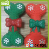 Latex Toy Christmas Bowknot Bone