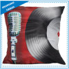 Vinyl Record Printed Polyester Throw Pillow