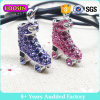 Fashion Crystal Roller Skate Pendant Necklace Jewelry