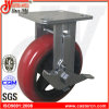 4X2 Korea Type Rounded Urethane Side Brake Fixed Casters