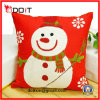 Christmas Gift Red Snow White Plush Cushion
