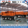 Single Stage Compression Trailer/Skid Mounted Diesel Portable 13 Bar Air Compressor for Mining