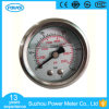 Ytn-40d Half Stainless Steel Oil Filled Pressure Gauge with Back Type Brass Connection Pressure Gauge