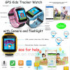 2g Kids GPS Tracker Watch with Flashlight&0.3m Camera D26c
